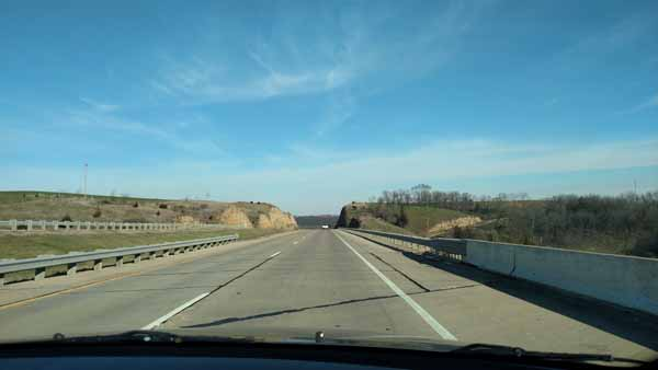 On the road to Madison.