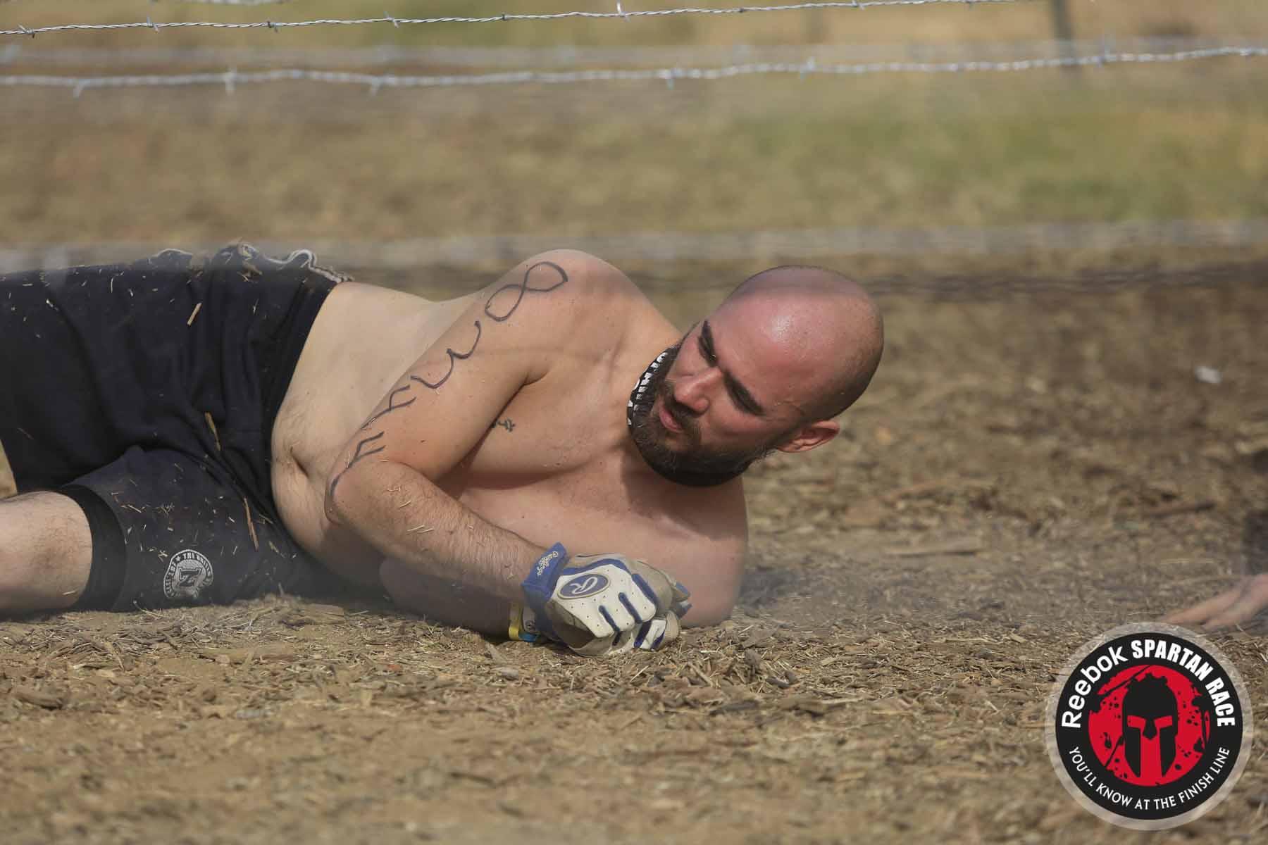Spartan Sprint, barbed wire