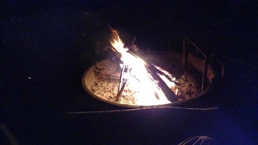The campfire relit
