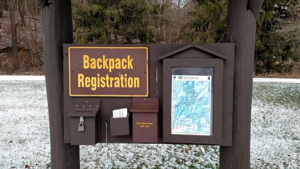 Backpack registration