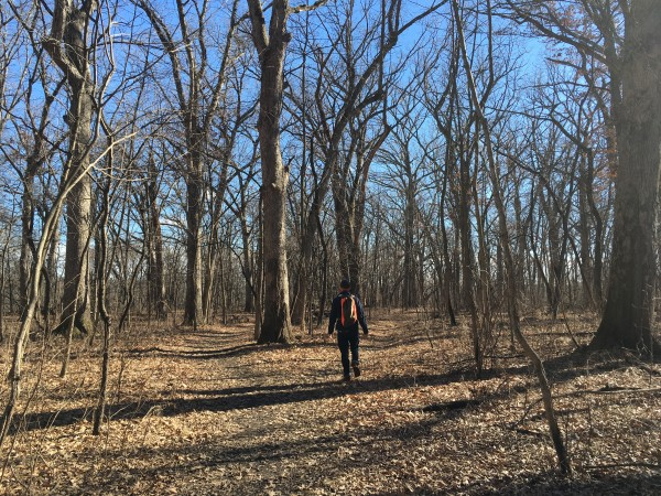Microadventure hike at Black Hawk State Historic Site