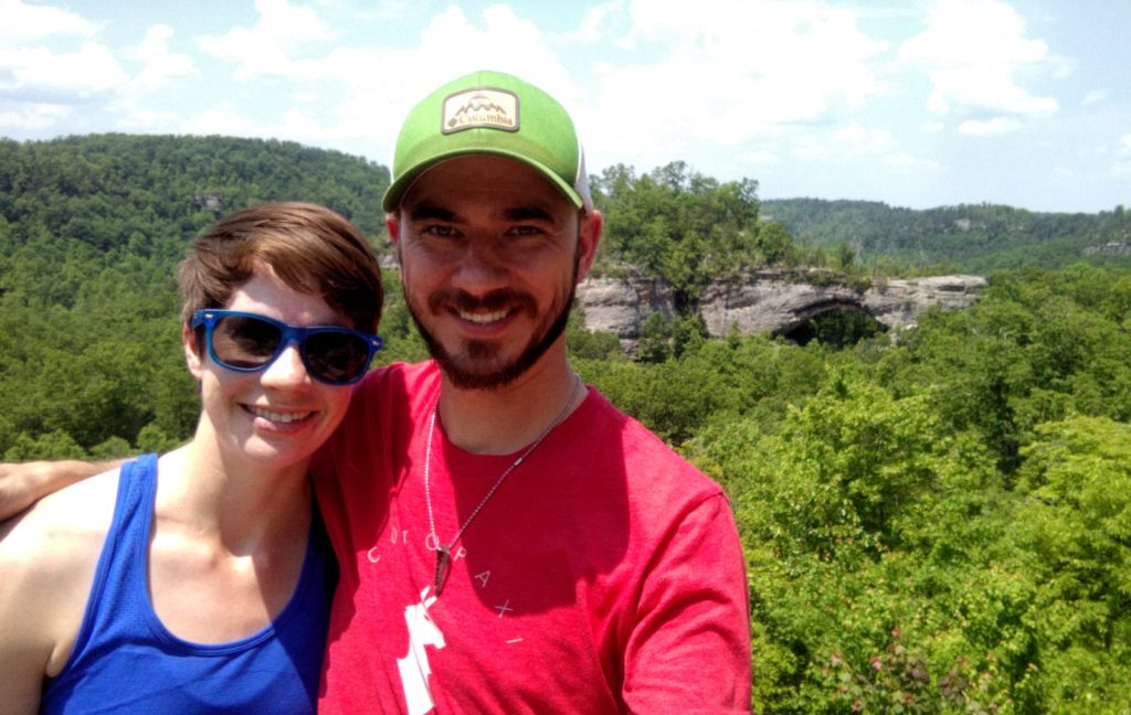 On the Natural Arch Loop Trail in the Daniel Boone National Forest.