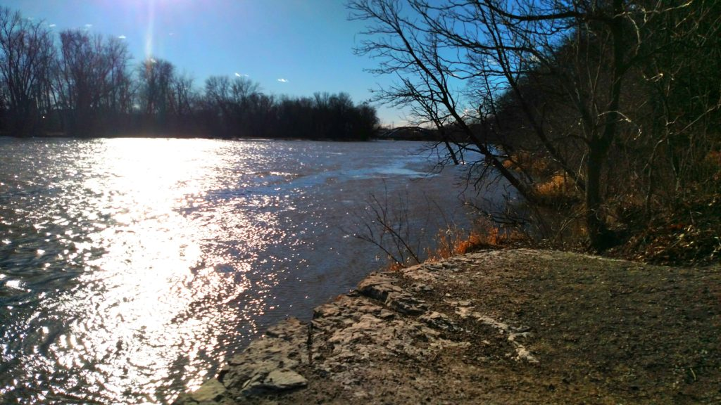 Overlooking the Rock River at Black Hawk State Historic Site.