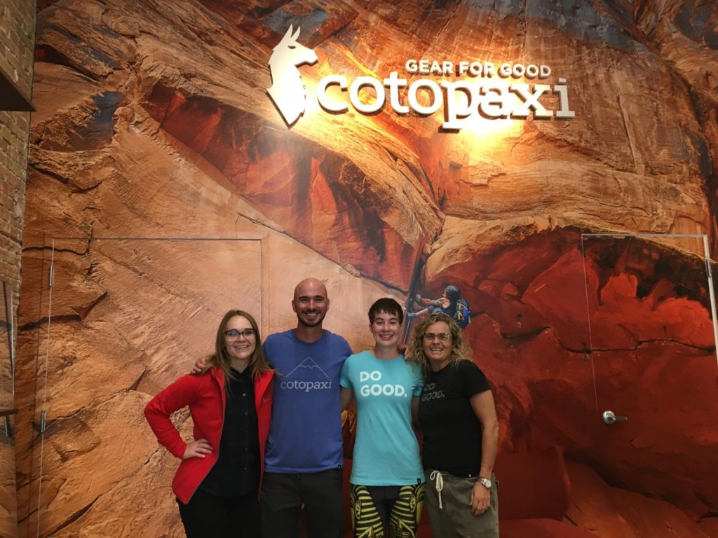 Us and Cotopaxi staff