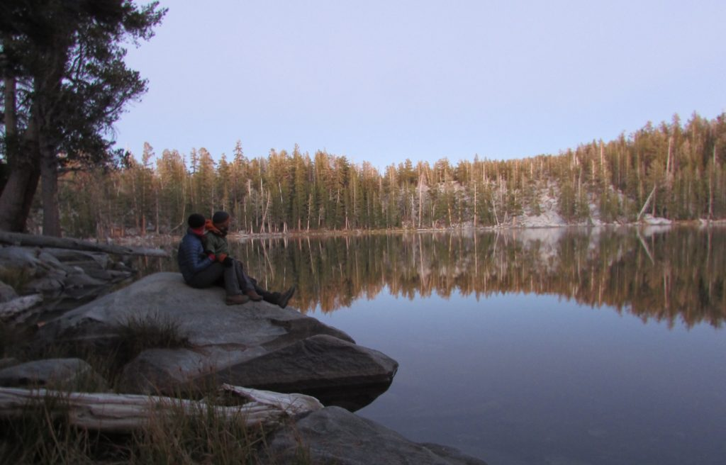 Clarissa and I at Lake Ostrander in Yosemite National Park