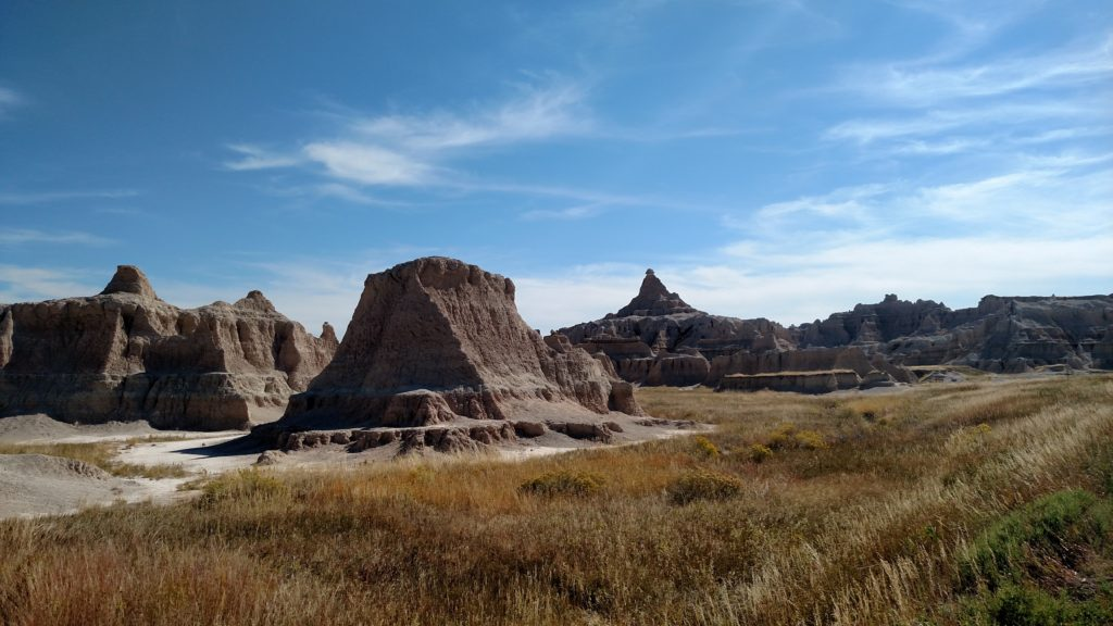 The alien landscape of Badlands National Park.