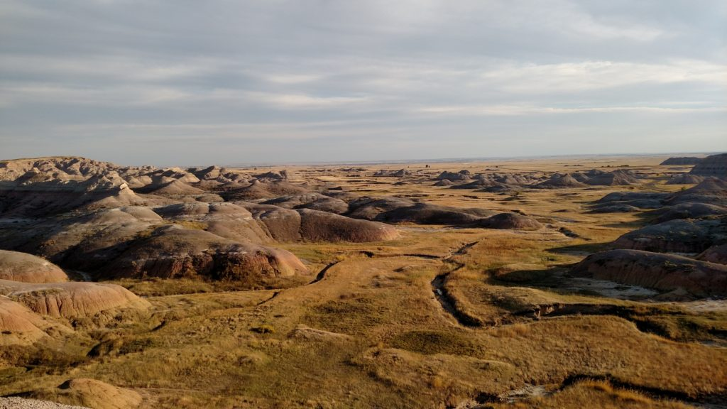 Overlook in Badlands National Park