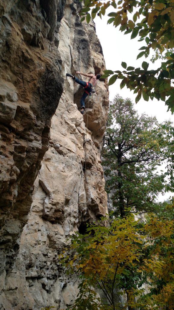 Eric climbing at Skeletal Remains