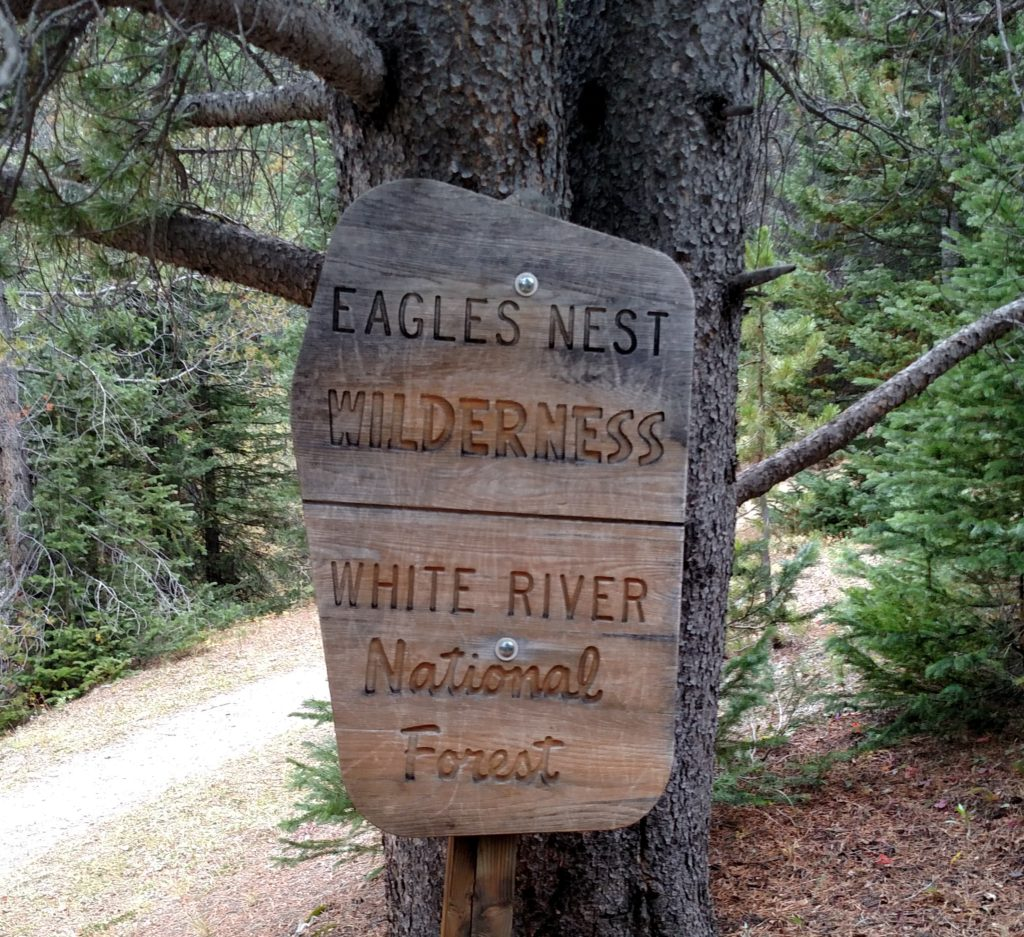 Hiking Colorado - Entering the Eagle Nest Wilderness