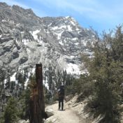 Heading up the Mount Whitney Trail