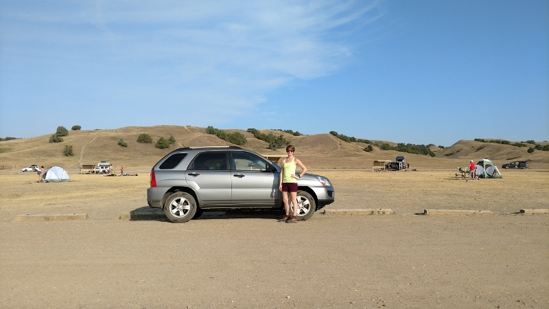 Kia Sportage in the Badlands