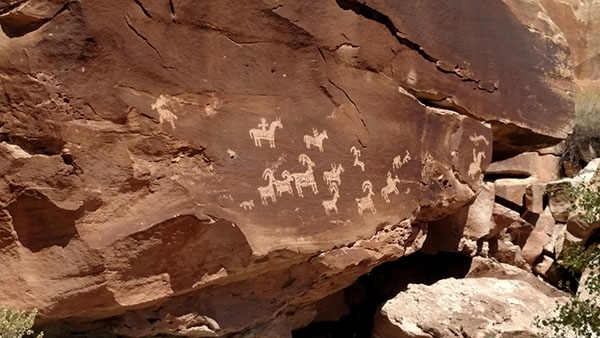 Petroglyphs in Arches National Park