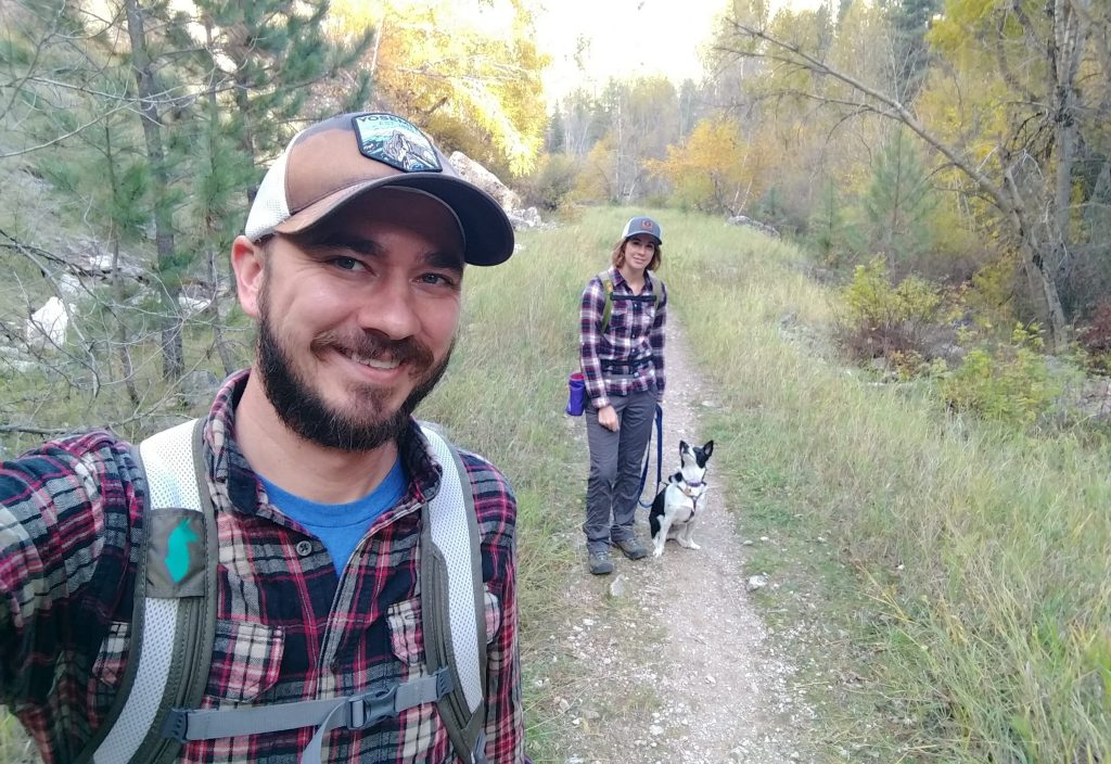 Wade Ellett and family, hiking in the Black Hills