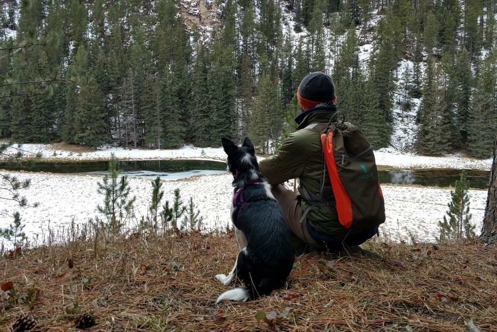 Sitting with the Luzon and the dog: The Luzon makes a great outdoor gift