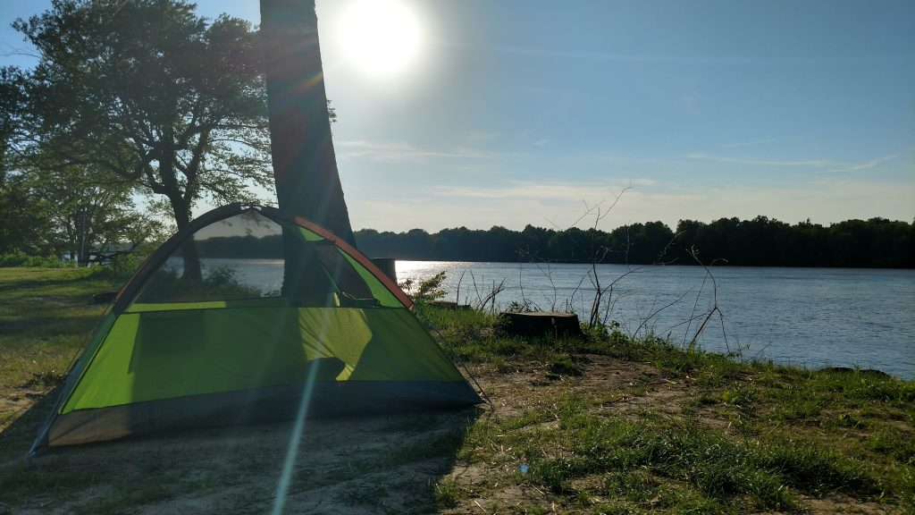 Camping along the Mississippi