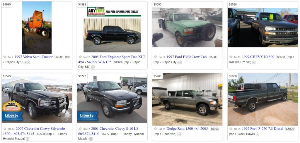 Buy an old truck on craigslist if you want
