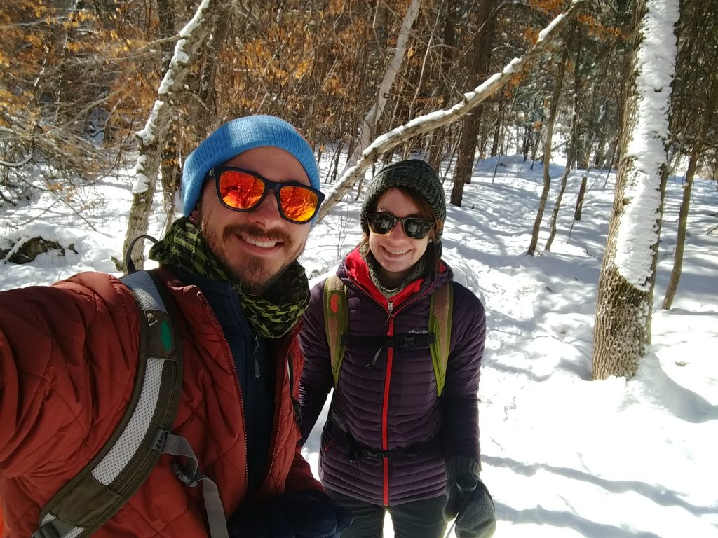 Selfie of Wade and Clarissa on the trail