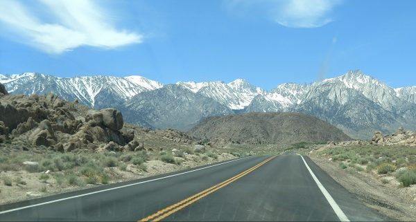 A view from Mount Whitney Trail