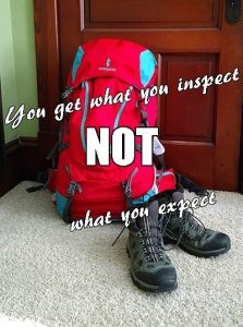 You get what you inspect. It's true of packing your bag, it's true of achieving your goals... It's true of life. Here's why you need to inspect everything in your life — without obsessing about it!