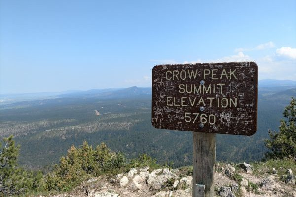 Welcome to the summit of Crow Peak