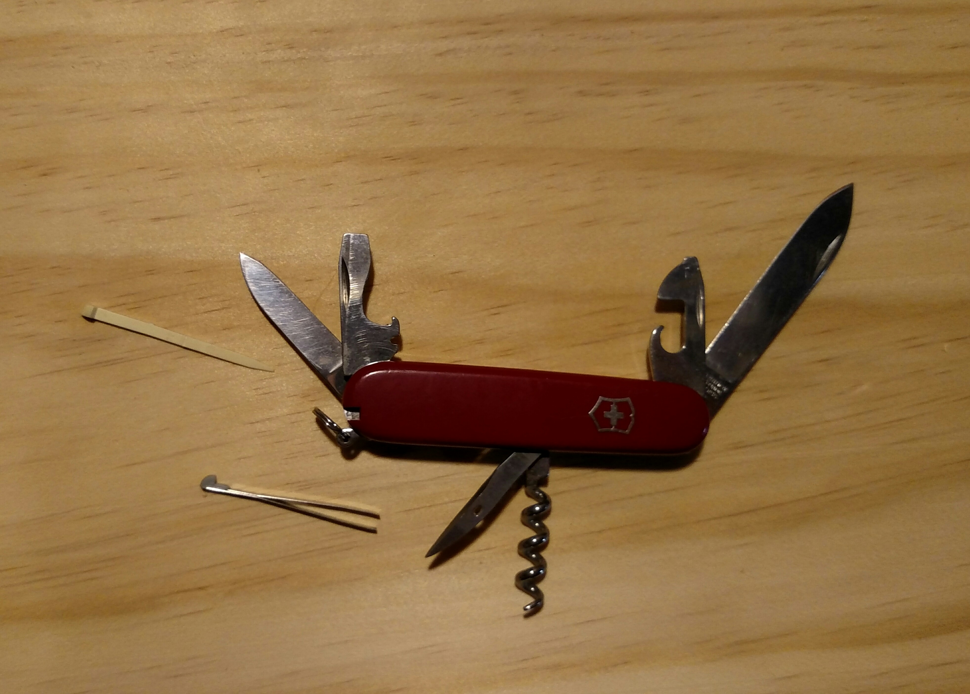 All the blades and tools that come with my Victorinox Swiss Army Knife
