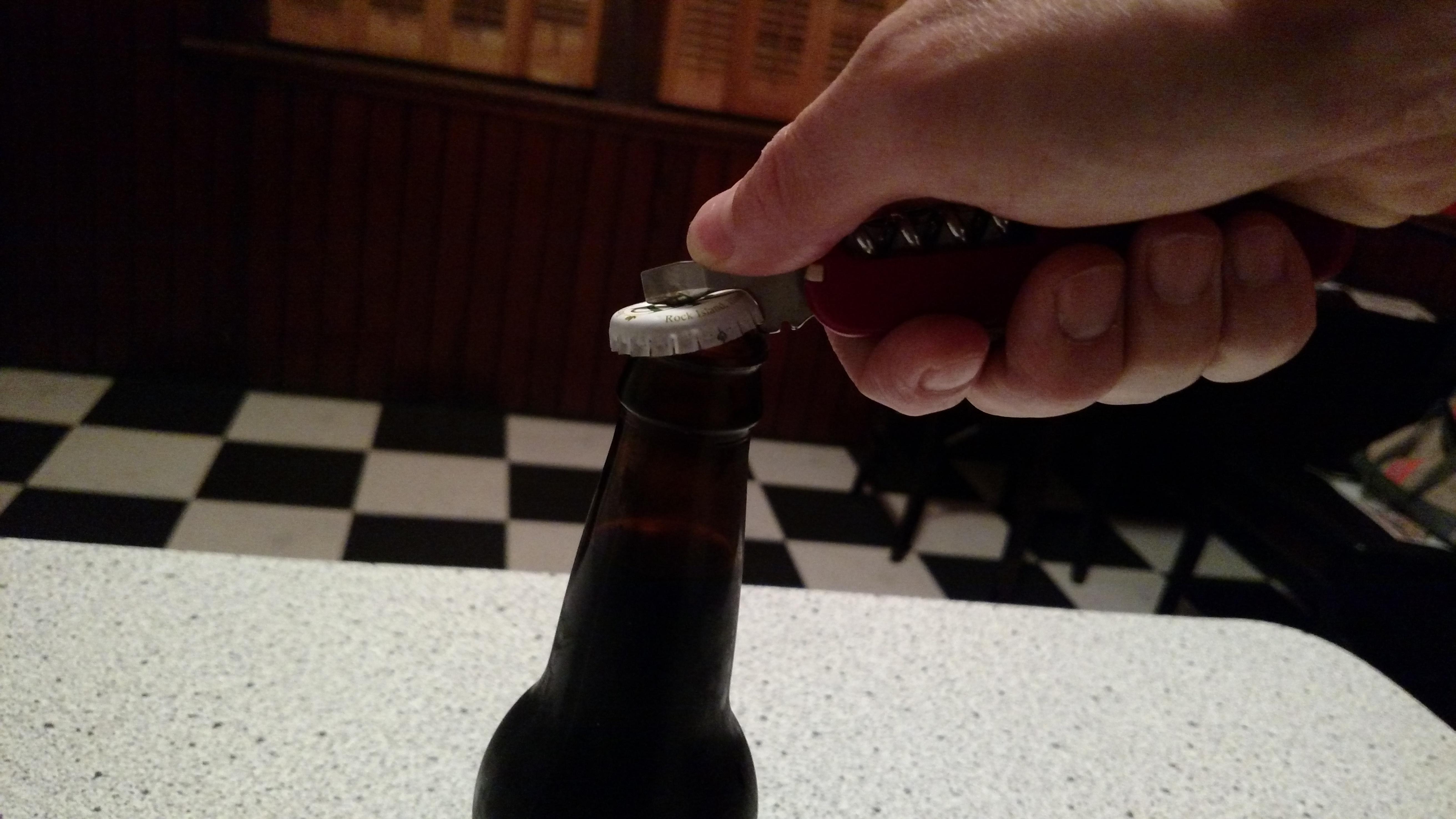 It will open bottles...