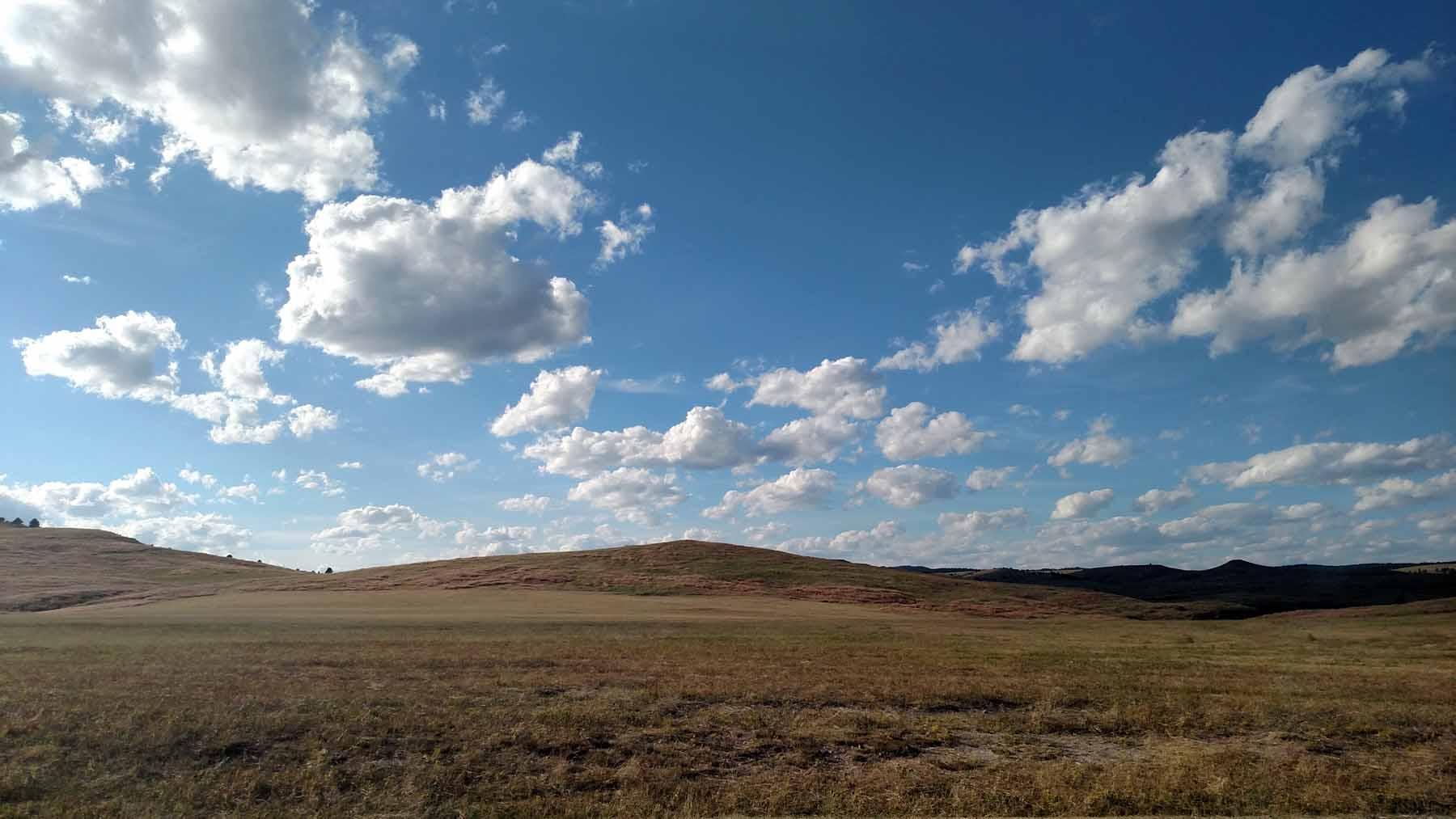 Blue sky, beautiful landscape
