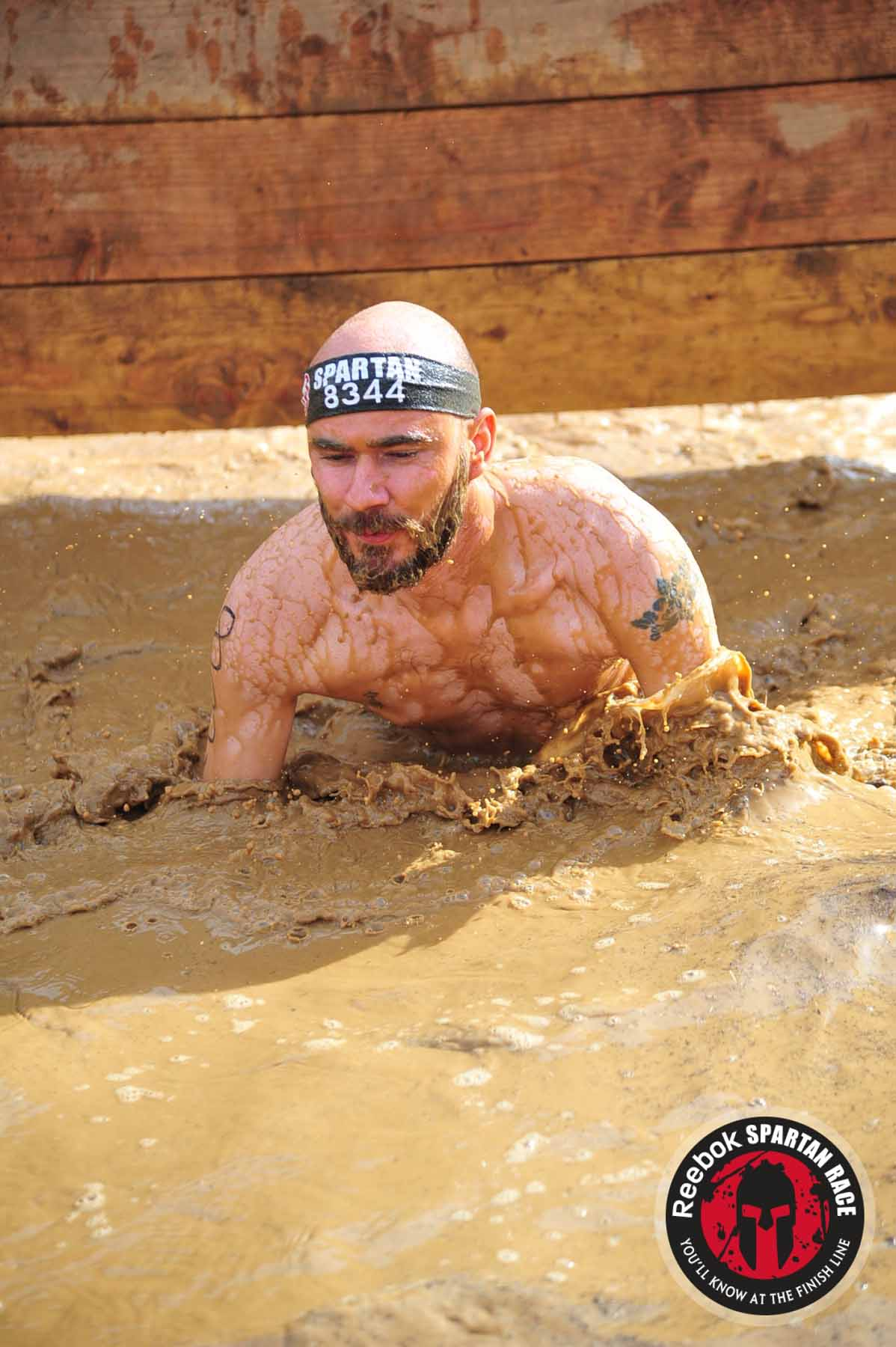 Spartan Sprint,mud obstacle