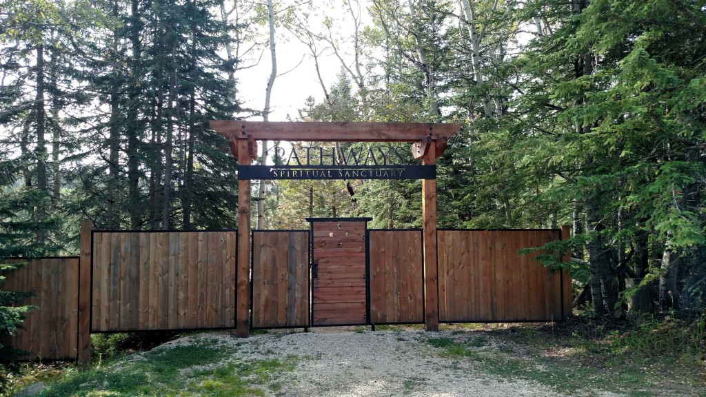 Entrance gate at Pathways Spiritual Sanctuary