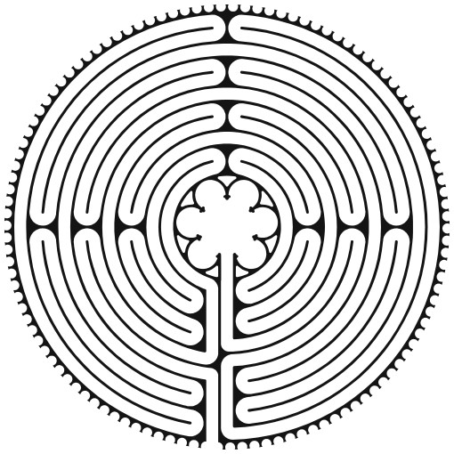 Chartres Labyrinth layout used at Pathways Spiritual Sanctuary