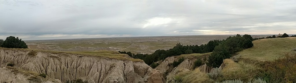 The view from Ancient Hunters overlook, Badlands National Park