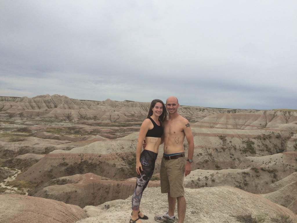 Tattoos in at Panorama Point in Badlands National Park