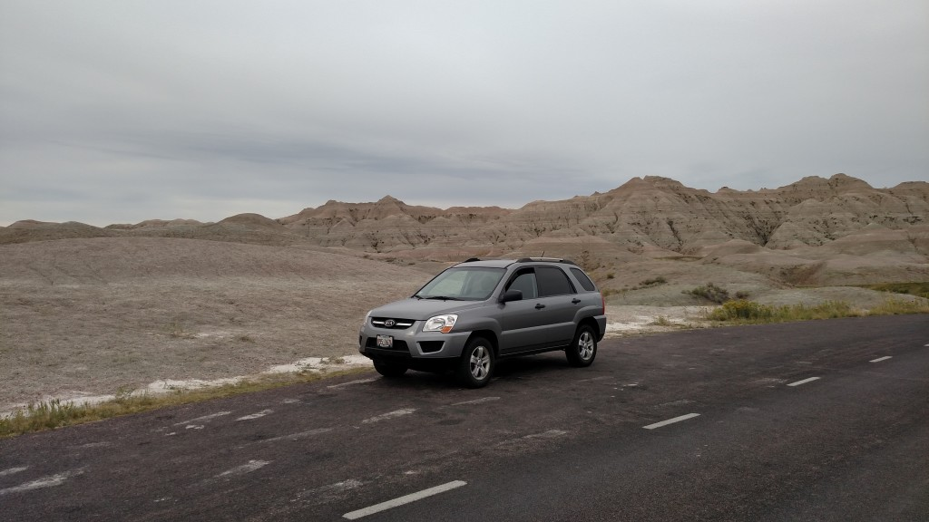 Kia Sportage at Badlands National Park