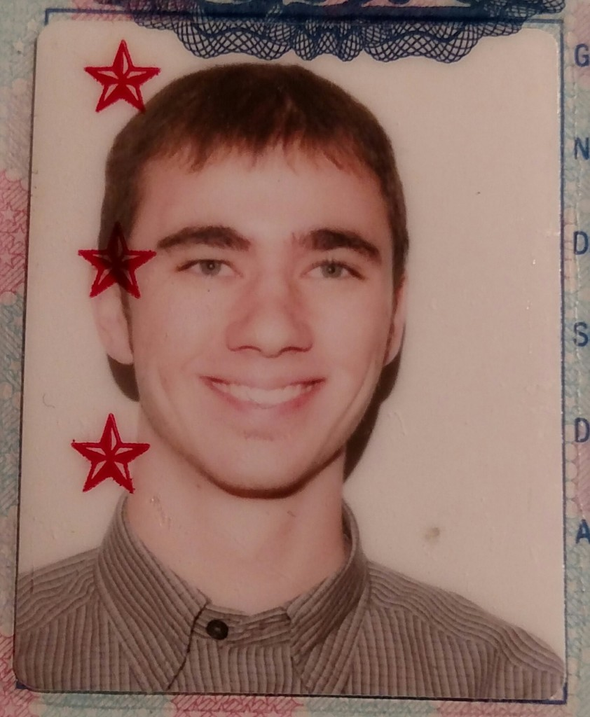 18 year old me, passport photo
