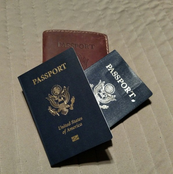 New passport, old passport, passport case