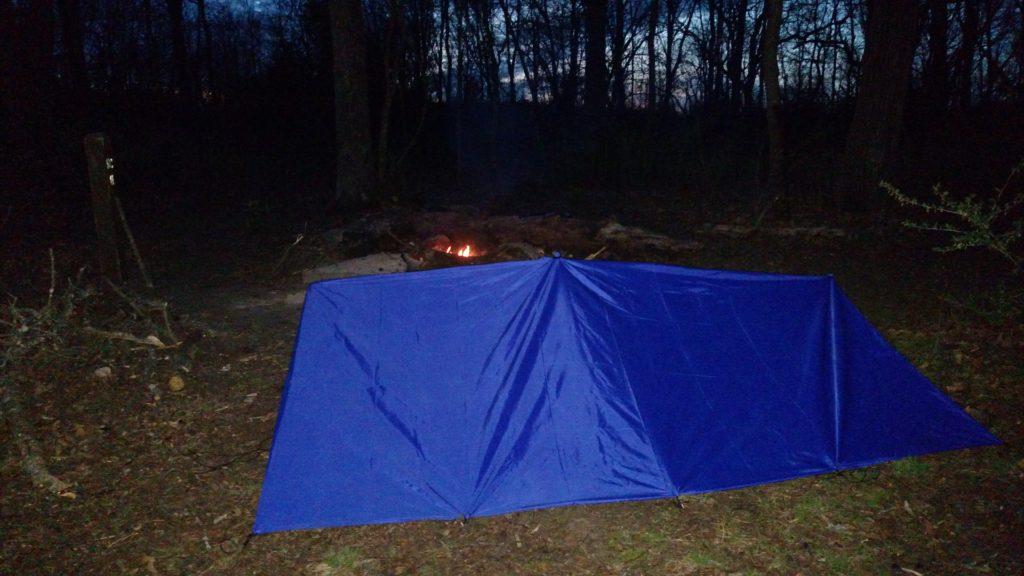 Backside of shelter