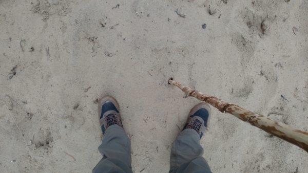 Hiking sandy trails