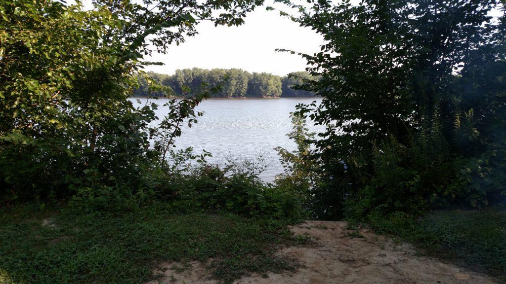 Riverside campsite at Loud Thunder Forest Preserve