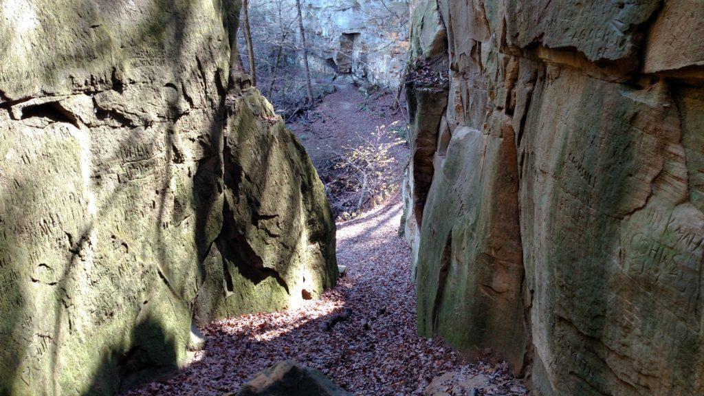 Stone walls at Wildcat Den