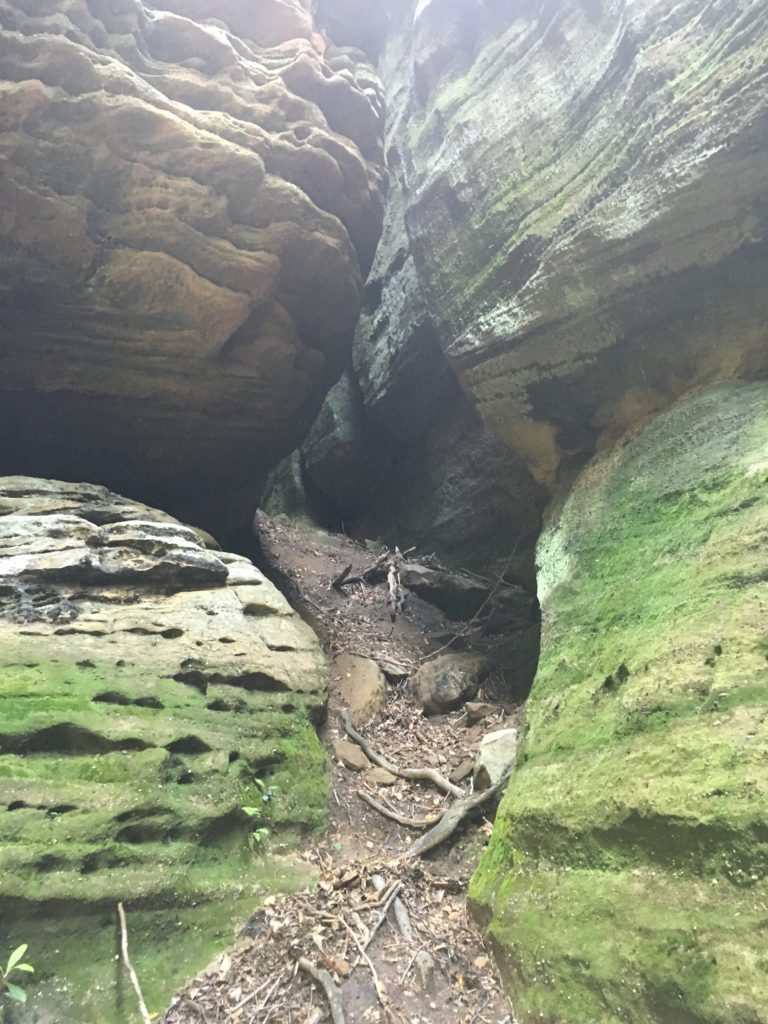 Exploring and opening in a rock formation