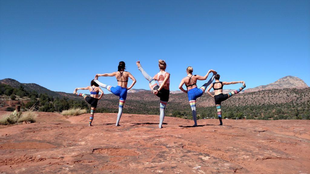 Yoga photos outside of Sedona