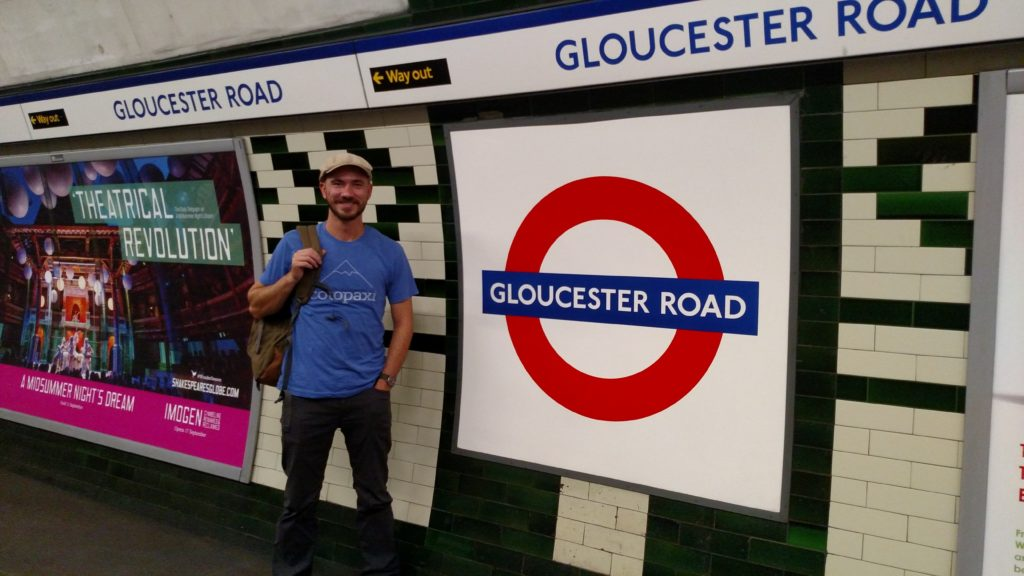 The Gloucester Road Underground stop.