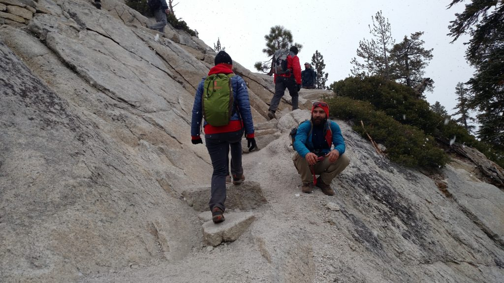Nearing the cables on Half Dome
