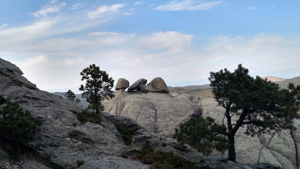 Granite boulders on Old Baldy