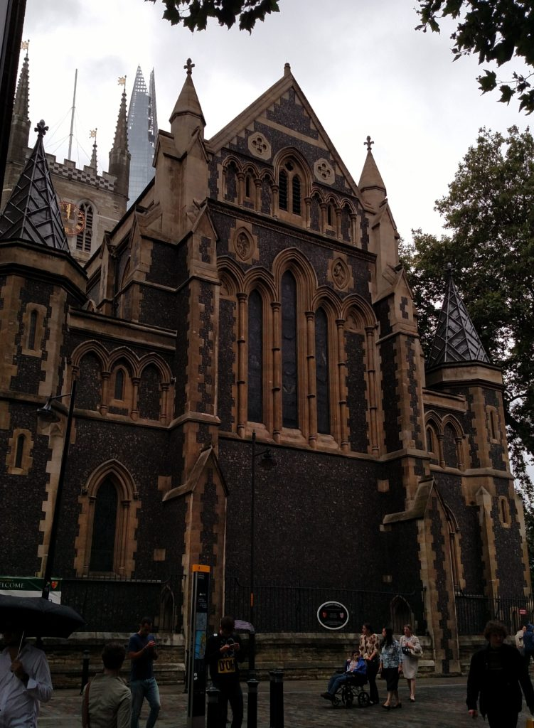 Southwark Cathedral as seen while walking London