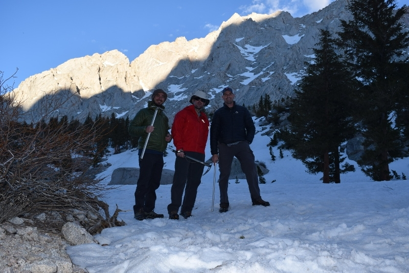 ice axes on Mount Whitney