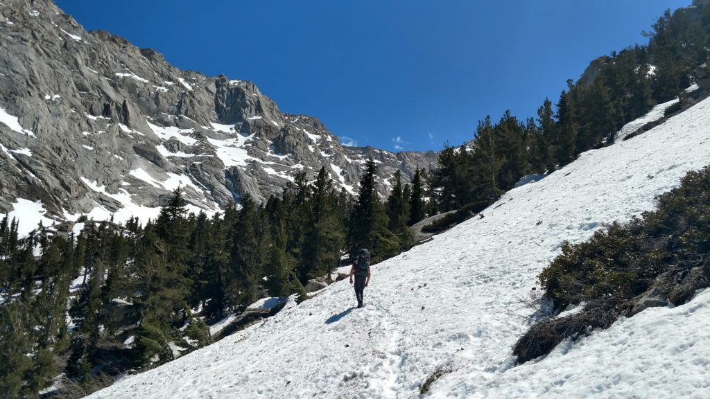 Mount Whitney Trail under snow