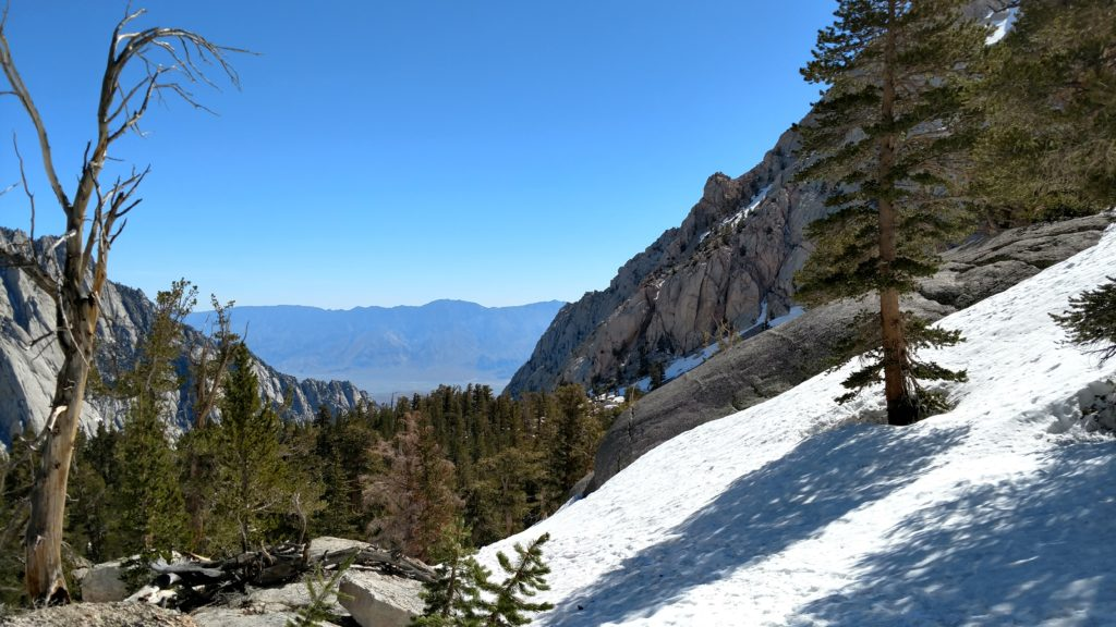 Heading back down Mount Whitney Trail.