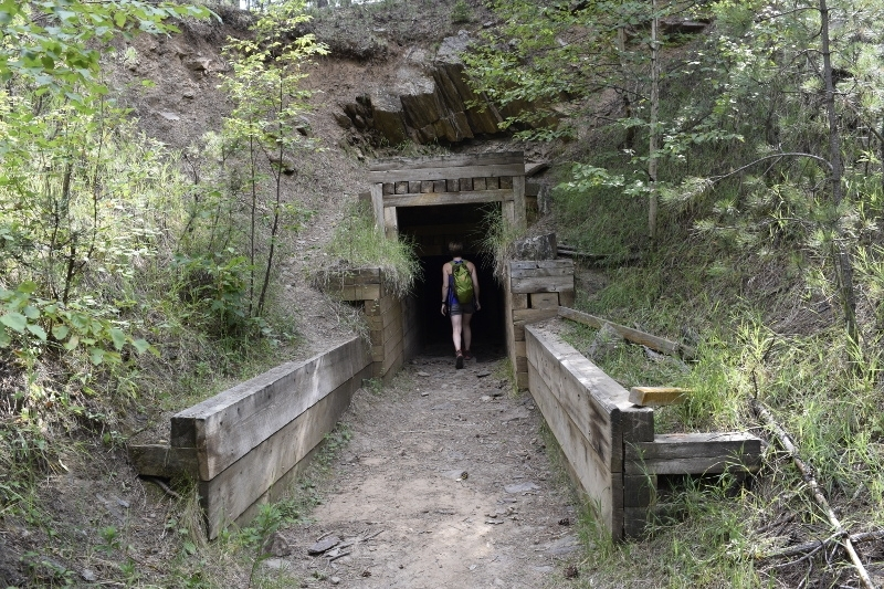 Flume Tunnels on the Flume Trail