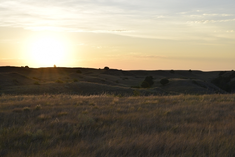 Sunrise in the Badlands backcountry